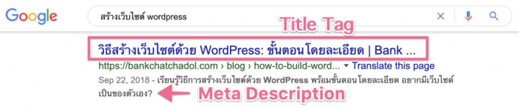 Title Tag & Meta Description